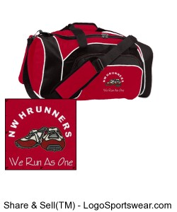 "'We Run As One"" Gym Bag Design Zoom"